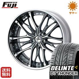 タイヤはフジ 送料無料 ベンツGLC(X253) WEDS クレンツェ ウィーバル 8.5J 8.50-20 DELINTE デリンテ D7 サンダー(限定) 255/45R20 20インチ サマータイヤ ホイール4本セット 輸入車