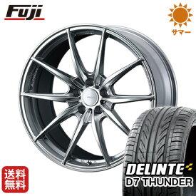 タイヤはフジ 送料無料 ベンツGLC(X253) WEDS ウェッズスポーツ FT117 8.5J 8.50-20 DELINTE デリンテ D7 サンダー(限定) 255/45R20 20インチ サマータイヤ ホイール4本セット 輸入車