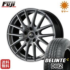 タイヤはフジ 送料無料 MID シュナイダー SQ27 6.5J 6.50-16 DELINTE デリンテ DH2(限定) 195/55R16 16インチ サマータイヤ ホイール4本セット