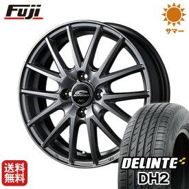 タイヤはフジ 送料無料 MID シュナイダー SQ27 4.5J 4.50-14 DELINTE デリンテ DH2(限定) 155/65R14 14インチ サマータイヤ ホイール4本セット
