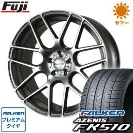 タイヤはフジ 送料無料 MLJ ハイペリオン CVM 8.5J 8.50-19 FALKEN アゼニス FK510 235/55R19 19インチ サマータイヤ ホイール4本セット