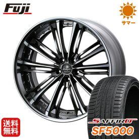 タイヤはフジ 送料無料 ベンツGLC(X253) WEDS クレンツェ アクエルド 8.5J 8.50-20 SAFFIRO サフィーロ SF5000(限定) 255/45R20 20インチ サマータイヤ ホイール4本セット 輸入車