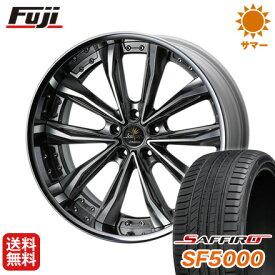 タイヤはフジ 送料無料 ベンツGLC(X253) WEDS クレンツェ グラベン 8.5J 8.50-20 SAFFIRO サフィーロ SF5000(限定) 255/45R20 20インチ サマータイヤ ホイール4本セット 輸入車