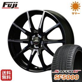 タイヤはフジ 送料無料 MID シュナイダー DR-01 6.5J 6.50-16 SAFFIRO サフィーロ SF5000(限定) 215/60R16 16インチ サマータイヤ ホイール4本セット