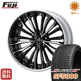 タイヤはフジ 送料無料 ベンツGLC(X253) WEDS クレンツェ フェルゼン 8.5J 8.50-20 SAFFIRO サフィーロ SF5000(限定) 255/45R20 20インチ サマータイヤ ホイール4本セット 輸入車