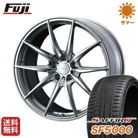 タイヤはフジ 送料無料 ベンツGLC(X253) WEDS ウェッズスポーツ FT117 8.5J 8.50-20 SAFFIRO サフィーロ SF5000(限定) 255/45R20 20インチ サマータイヤ ホイール4本セット 輸入車