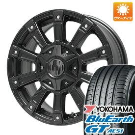 タイヤはフジ 送料無料 LEHRMEISTER レアマイスター モウスト(マットブラック)限定 4.5J 4.50-14 YOKOHAMA ブルーアース GT AE51 155/65R14 14インチ サマータイヤ ホイール4本セット