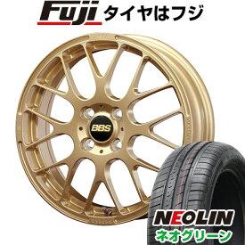 タイヤはフジ 送料無料 BBS JAPAN BBS RP 4.5J 4.50-15 NEOLIN ネオリン ネオグリーン(限定) 165/50R15 15インチ サマータイヤ ホイール4本セット