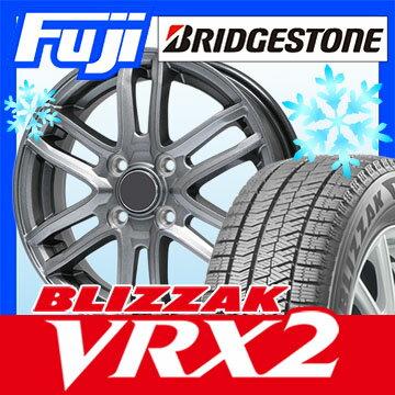 【送料無料】 BRIDGESTONE ブリヂストン ブリザック VRX2 155/65R14 14インチ スタッドレスタイヤ ホイール4本セット BRANDLE ブランドル G61 4.5J 4.50-14