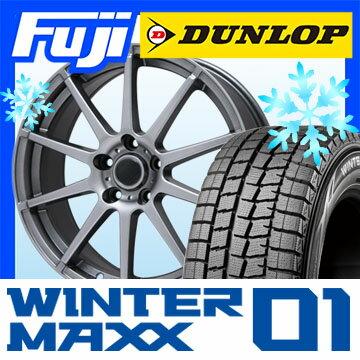 【送料無料】 DUNLOP ダンロップ ウィンターMAXX 01 WM01 215/55R17 17インチ スタッドレスタイヤ ホイール4本セット BRANDLE ブランドル 562 7J 7.00-17