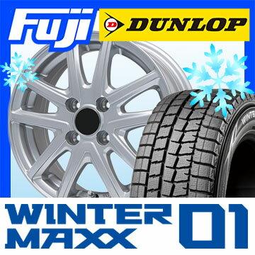 【送料無料 ソリオ(MA36S)】 DUNLOP ダンロップ ウィンターMAXX 01 WM01 165/65R15 15インチ スタッドレスタイヤ ホイール4本セット BRANDLE ブランドル M61 4.5J 4.50-15