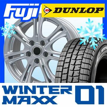 【送料無料】 DUNLOP ダンロップ ウィンターMAXX 01 WM01 195/60R16 16インチ スタッドレスタイヤ ホイール4本セット BRANDLE ブランドル M68 6.5J 6.50-16