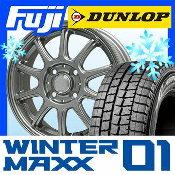 【送料無料】 DUNLOP ダンロップ ウィンターMAXX 01 WM01 155/65R14 14インチ スタッドレスタイヤ ホイール4本セット BRANDLE ブランドル Z01 4.5J 4.50-14