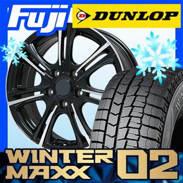【送料無料】 DUNLOP ダンロップ ウィンターMAXX 02 WM02 205/60R16 16インチ スタッドレスタイヤ ホイール4本セット BRANDLE ブランドル M68BP 6.5J 6.50-16