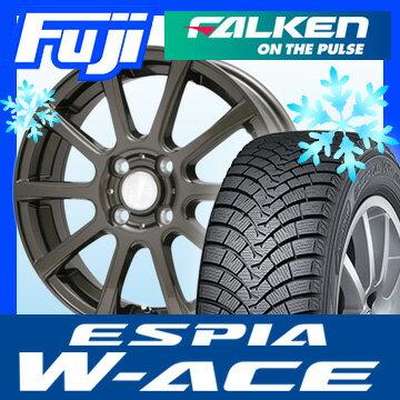【送料無料】 FALKEN ファルケン エスピア W-ACE 165/65R14 14インチ スタッドレスタイヤ ホイール4本セット BRANDLE ブランドル 565Z 5.5J 5.50-14