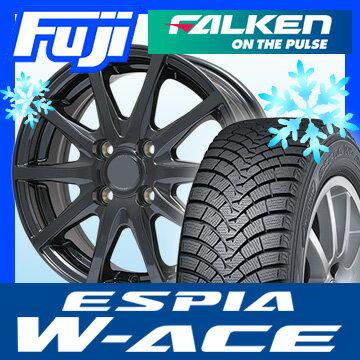 【送料無料】 FALKEN ファルケン エスピア W-ACE 145/80R13 13インチ スタッドレスタイヤ ホイール4本セット BRANDLE ブランドル M71B 4J 4.00-13