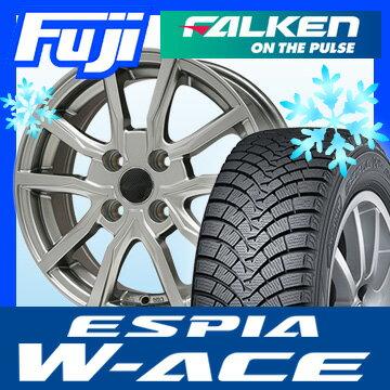 【送料無料】 FALKEN ファルケン エスピア W-ACE 165/65R14 14インチ スタッドレスタイヤ ホイール4本セット BRANDLE ブランドル N52 5.5J 5.50-14