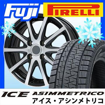 【送料無料】 PIRELLI ピレリ ウィンター アイスアシンメトリコ 215/60R16 16インチ スタッドレスタイヤ ホイール4本セット BRANDLE ブランドル M71BP 6.5J 6.50-16