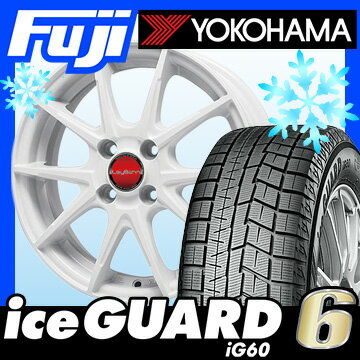 【送料無料】 YOKOHAMA ヨコハマ アイスガード シックスIG60 165/60R15 15インチ スタッドレスタイヤ ホイール4本セット BIGWAY LEYBAHN WGS 4.5J 4.50-15