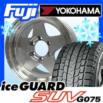 【送料無料】 YOKOHAMA ヨコハマ アイスガード SUV G075 315/75R16 16インチ スタッドレスタイヤ ホイール4本セット ELBE エルベ LG442 シルバーポリッシュ 8J 8.00-16