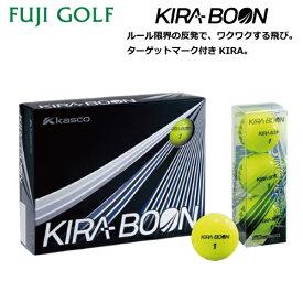 kasco キャスコKIRA BOON キラ ブーンターゲットマーク付ゴルフボール 1ダース2019年モデル
