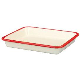 【安心のメーカー直販】バット 富士ホーロー ハニーウェア ホーローバットLL(15取) 料理 下ごしらえ シンプル 青 赤 白 シンプル