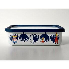 【安心のメーカー直販】保存容器 キッチン用品 ストッカー 食材 調味料 ホーロー容器 グッズ 富士ホーロー ハニーウェア キッチン雑貨 ムーミン&フラワー浅型角容器M MOOMIN ギフト タッパー おしゃれ かわいい シンプル ムーミン