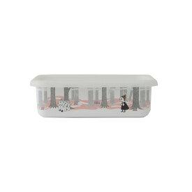 【安心のメーカー直販】保存容器 キッチン用品 ストッカー 食材 調味料 ホーロー容器 グッズ 富士ホーロー ハニーウェア キッチン雑貨 ムーミン・イン・ザ・フォレスト浅型角容器M MOOMIN ギフト タッパー おしゃれ かわいい シンプル ムーミン