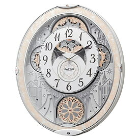 CITIZEN RHYTHM リズム時計掛時計スモールワールドノエルNS電波時計8MN407RH03