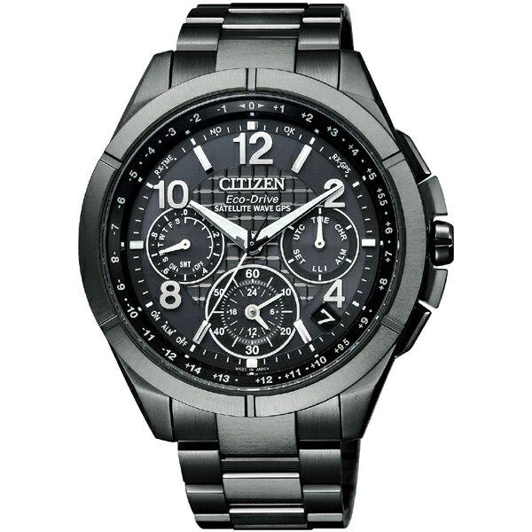 シチズン腕時計ATTESAブラックチタンシリーズ エコ・ドライブGPS衛星電波時計 F900 CC9075-52F