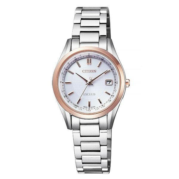 シチズン腕時計ソーラー電波時計 エクシードレディスダイレクトフライト針表示式ES9374-53A