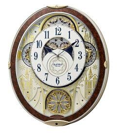 CITIZEN RHYTHM リズム時計掛時計スモールワールドノエルNS電波時計8MN407RH23