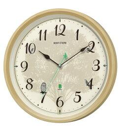 CITIZEN RHYTHM リズム時計 掛時計電波時計日本野鳥の会 四季の野鳥報時掛時計 409 8MN409SR06