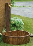 【立水栓ユニット/水栓柱】立水栓コロルミニ(グリーン)ホース接続専用の水栓柱