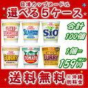 【送料無料】日清のカップヌードル (各種)選べる合計5ケース(100個入)セット【日清食品】【smtb-KD】