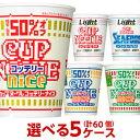 日清 カップヌードルライト & ナイス シリーズ選べる合計5ケース(60個)セット[送料無料 日清食品 カップラーメン …
