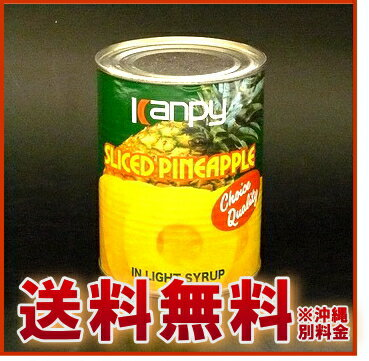 【送料無料】カンピー パインアップル 缶詰 1ケース(3号缶×24缶セット)【PB】