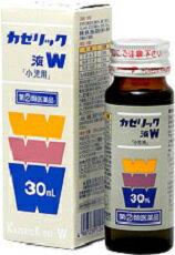 【指定第2類医薬品】のどの痛み・せき・発熱に小児用総合かぜ薬、カゼリック液W 30ml
