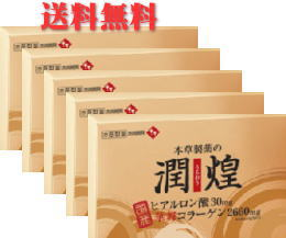 【送料無料】【本草製薬】潤煌(うるおう) 2g×60包×5個セット
