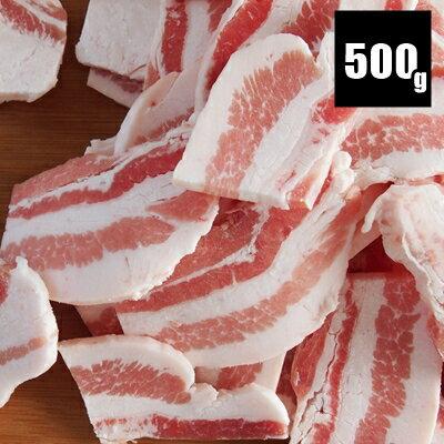 【国産豚バラ焼肉用 500g】【ラッキーシール対応】/焼肉/スキレット/メガ盛り/焼きそば/お好み焼き/広島焼き/鍋/焼肉