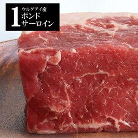 ウルグアイ産牛 1ポンド 冷凍 牛肉 ブロック サーロイン グラスフェッドビーフ 厚切り ローストビーフ 真空 極厚 成長ホルモン不使用 小分け ステーキ 赤身肉 牧草牛