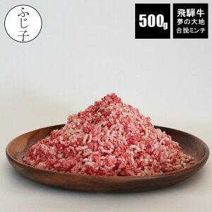 A5飛騨牛と銘柄豚夢の大地の合挽ミンチ 500g バラ凍結 牛肉40 豚肉60 ハンバーグ 挽肉 ひき肉 ひきにく A5 小分け 高級ミンチ