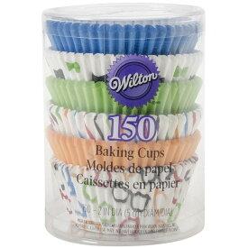 WILTON 紙製ベーキングカップ STD Glasses & Bows 150個