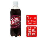 【送料無料】ドクターペッパー 500ml PET【24本×1ケース】※代引き不可・クール便不可※のし・ギフト包装不可※コカ・コーラ製品以外…