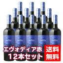 【送料無料セット】 日酒販 エヴォディア 750ml 赤 12本(1ケース) ※一部地域送料別途必要 エボディア evodia 赤ワイン レッドワ…