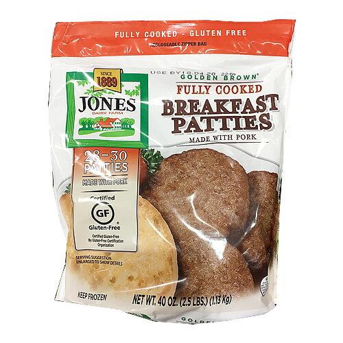 (冷凍便) ジョーンズデイリーファーム ブレックファストポークパティ 1.13kg 2246円【 JONES 冷凍ハンバーグ 豚肉 コストコ costco 通販 】