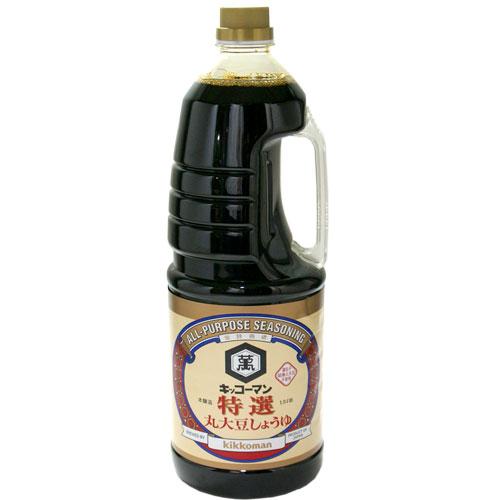 キッコーマン 特選 丸大豆しょうゆ 1.8L 1本 748円【 醤油 調味料 ハンディペットボトル 】