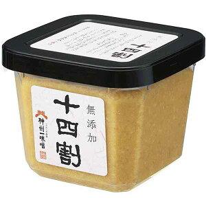 【ケース】神州一味噌 無添加 十四割 500g×6カップ 【 業務用 】