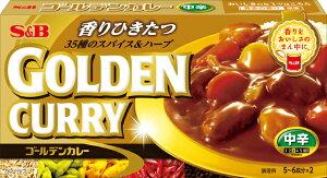 S&B ゴールデンカレー 中辛 198g 1箱 290円