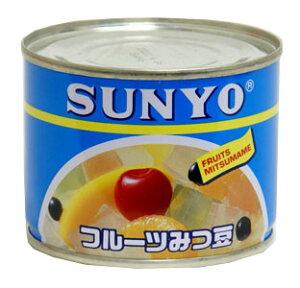 SANYOフルーツみつ豆200g缶1個118円
